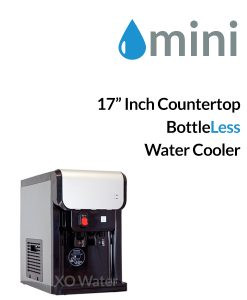 mini bottleless countertop cooler by xo water