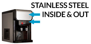 Stainless Steel Inside and out