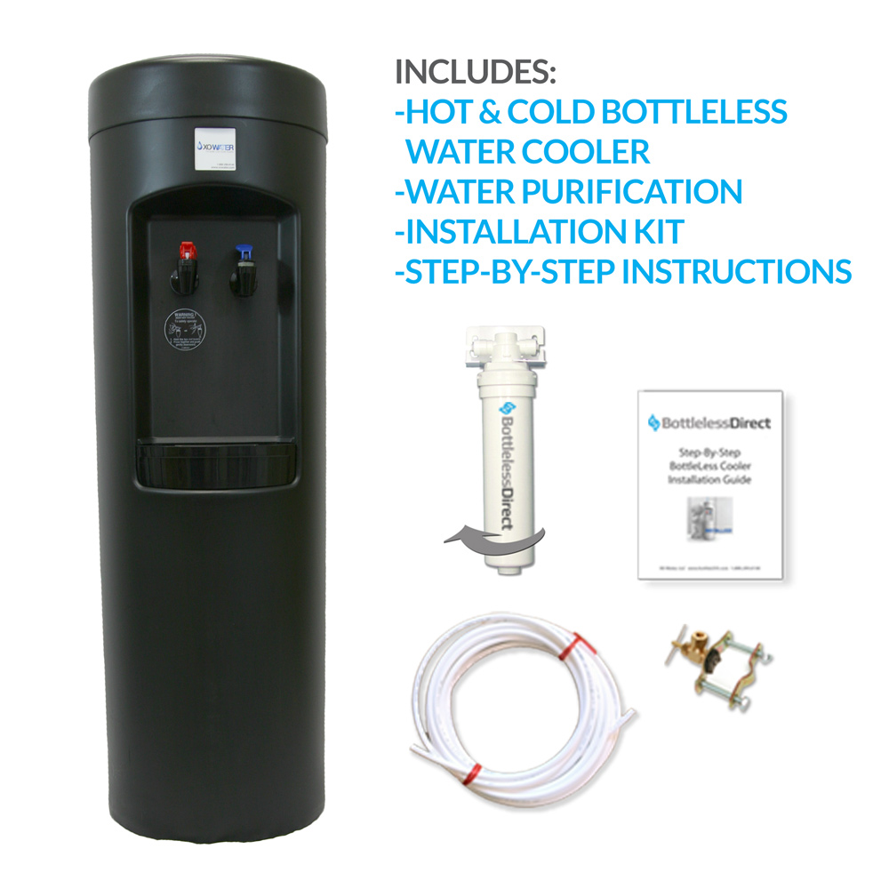 BDX1-B BottleLess Water Cooler - Black