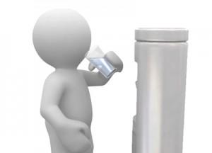 drink from a bottleless water cooler