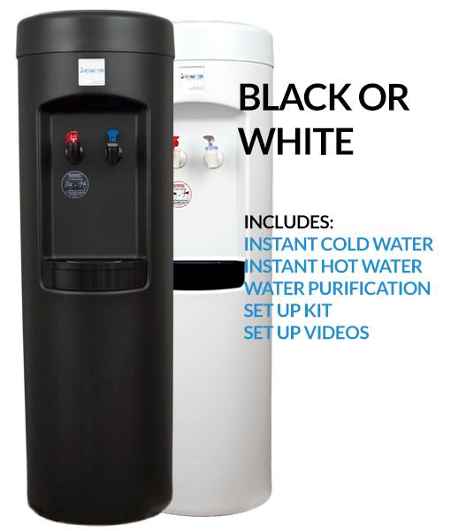 XO Water Bottleless water cooler - black or white BDX1-B or BDX1-W