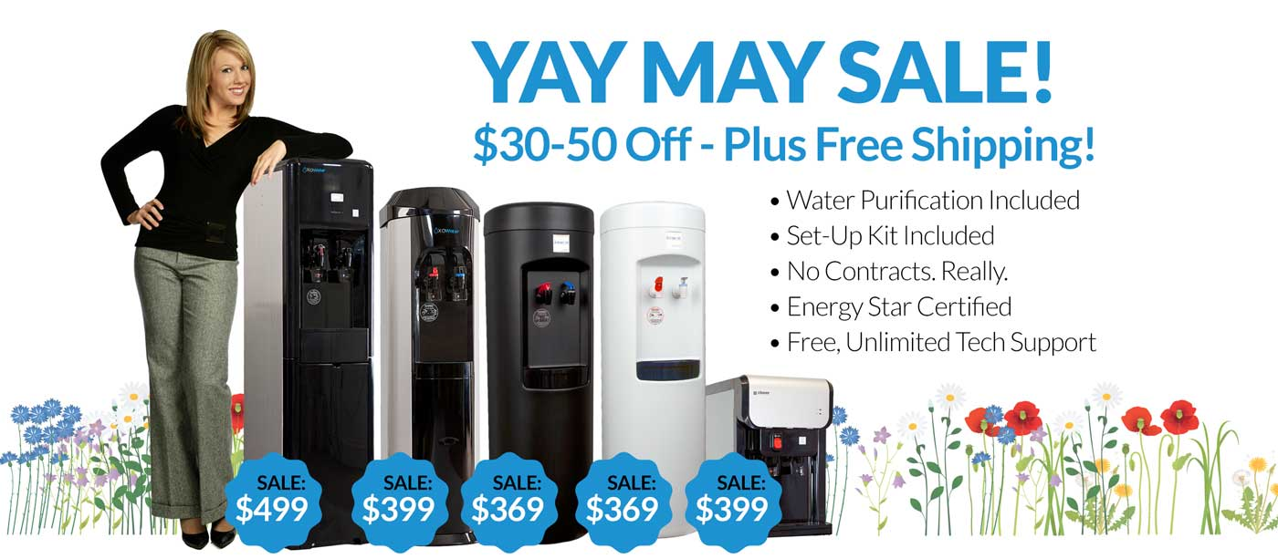 Bottleless cooler sale from XO Water YAY MAY