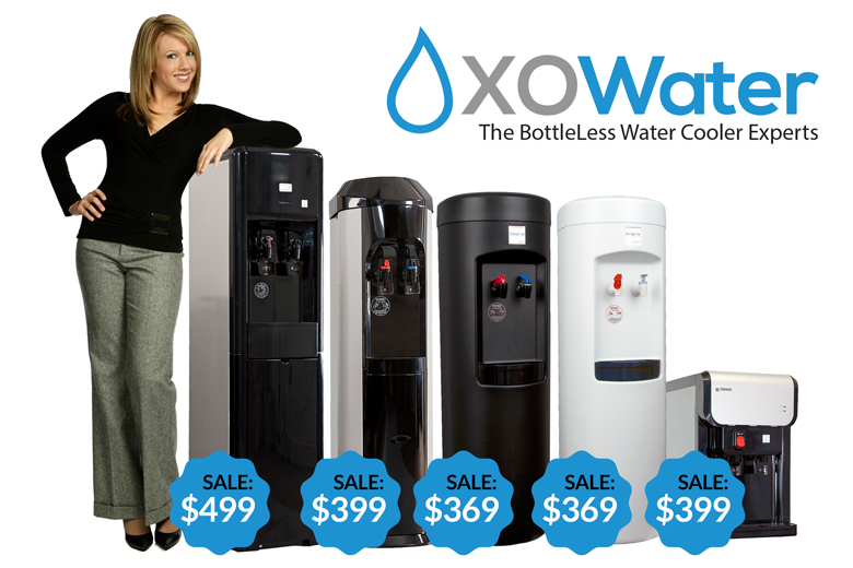XO Water BottleLess Coolers