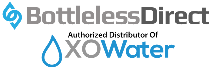 BottleLess Direct logo with XO Water